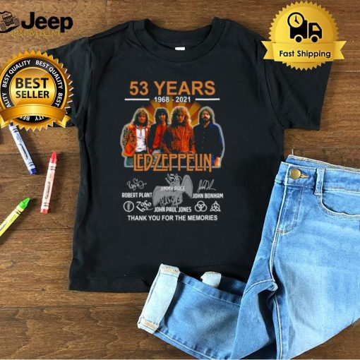 53 Years 1968 2021 Led Zeppelin Signature Thank You For The Memories T shirt