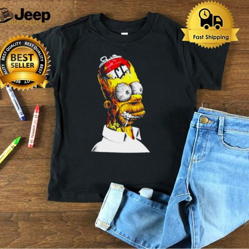 Homer Simpson With Beer 2D Multicolor shirt