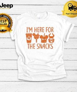 Im Here For The Snacks Disney Jack Skeleton and Witch Halloween shirt