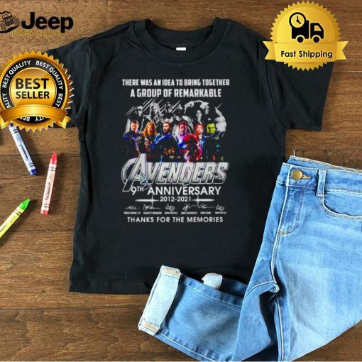 Avengers 9th Anniversary there was an idea to bring together shirt