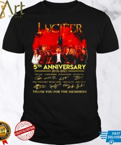 Lucifer 5th anniversary 2016 2021 thank you for the memories signatures shirt