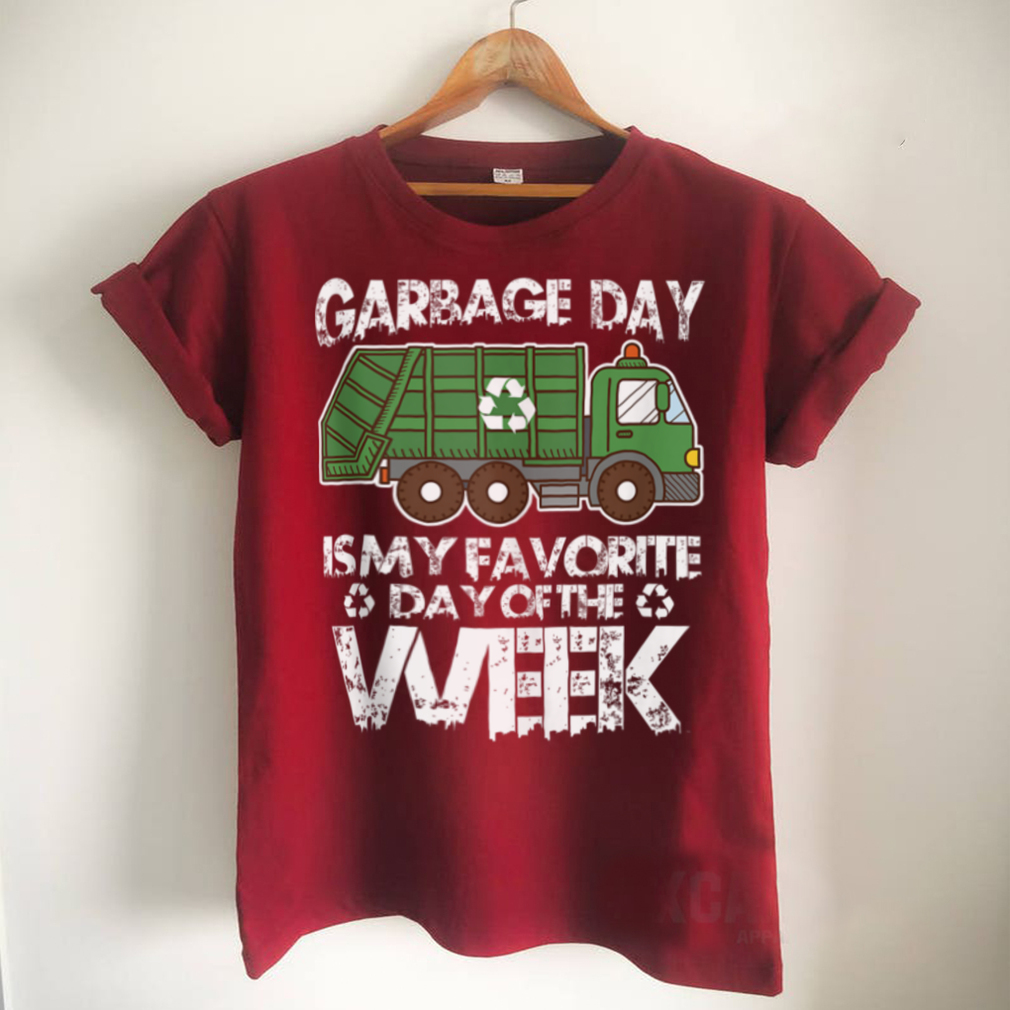 Funny Garbage Truck Waste Garbage Day Favorite Day Quote Tank Top
