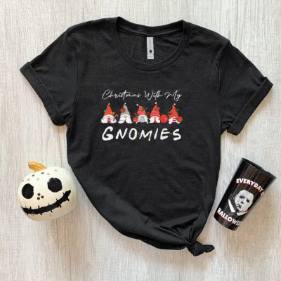 Official Christmas with my Gnomies Funny Gnome Xmas Boys Girls Kids T Shirt