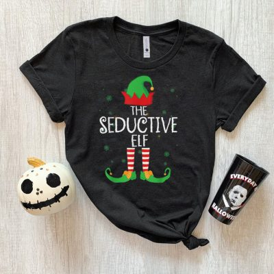 Official Funny The Seductive Elf Matching Family Group Gift Christmas T Shirt