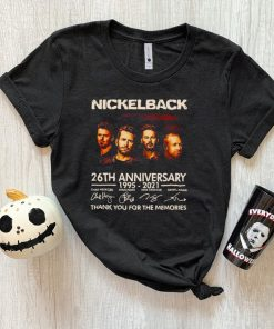 nickelback 1995 2021 thank you for the memories signatures shirt